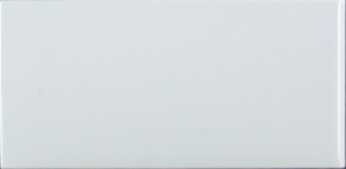 "Ice White | Glossy Subway Bullnose Tile 3""x6"" 