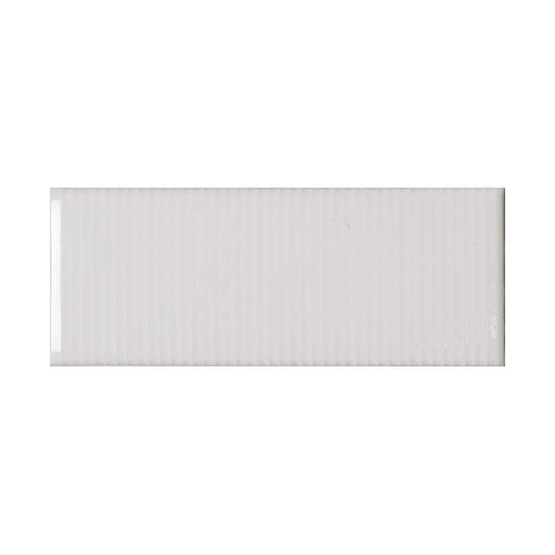 "Whisper White | Pinstripe |The Essentials | Textured Subway Tile 2""x5"""