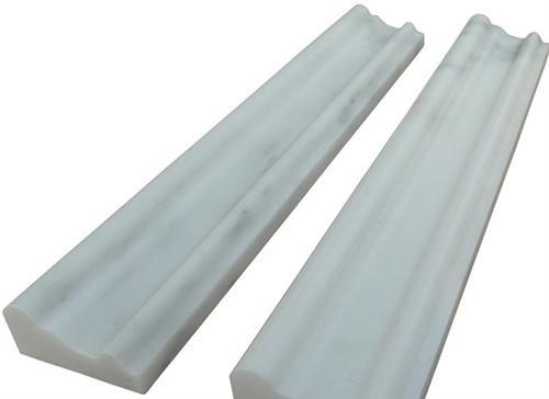 "Oriental White Marble | Chair Rail | Polished 2""x12"""
