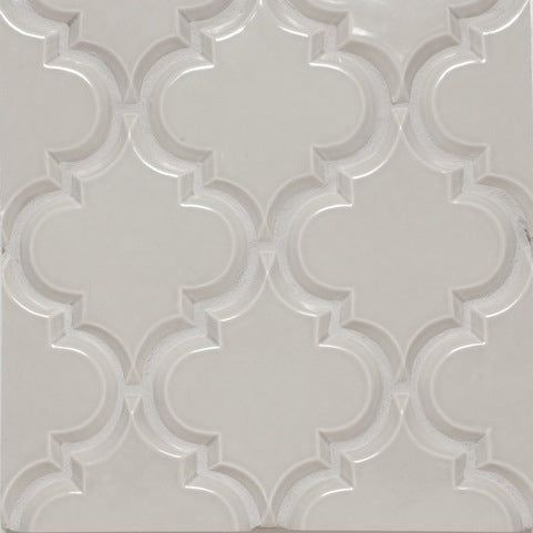 Beveled Arabesque Tile | Vento Grey
