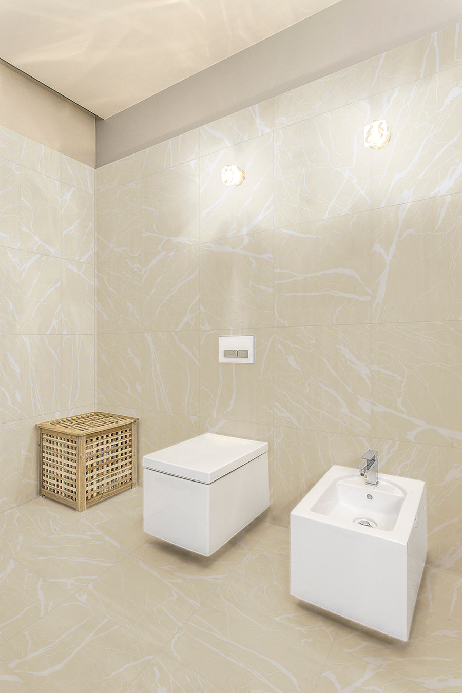Artwork | Marble | Ivory | Porcelain Tile | 24x24 - Mission Stone & Tile