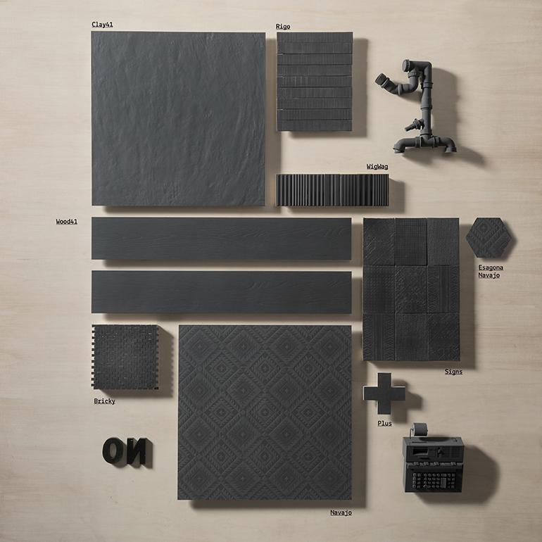 Clay41 | Black | 3x16 Porcelain Tile