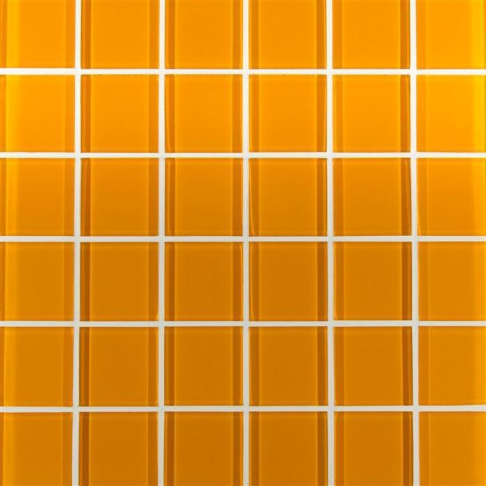 Amber Glacier Glass Tile 2x2