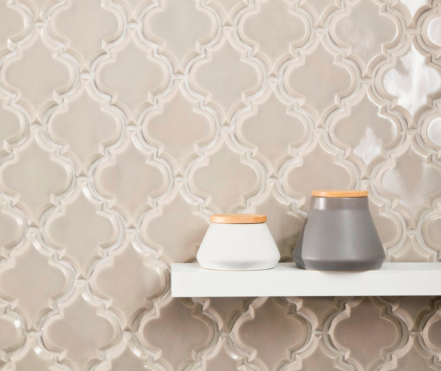 Beveled Arabesque Tile | Vento Grey - Mission Stone & Tile