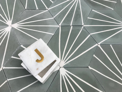 "Electra | Steel Grey, Cement Hexagon Tile | 8"" Hexagon - Mission Stone & Tile"