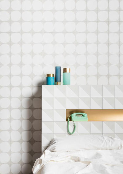 Futura | White | Porcelain Drop Tile | 6 X 6