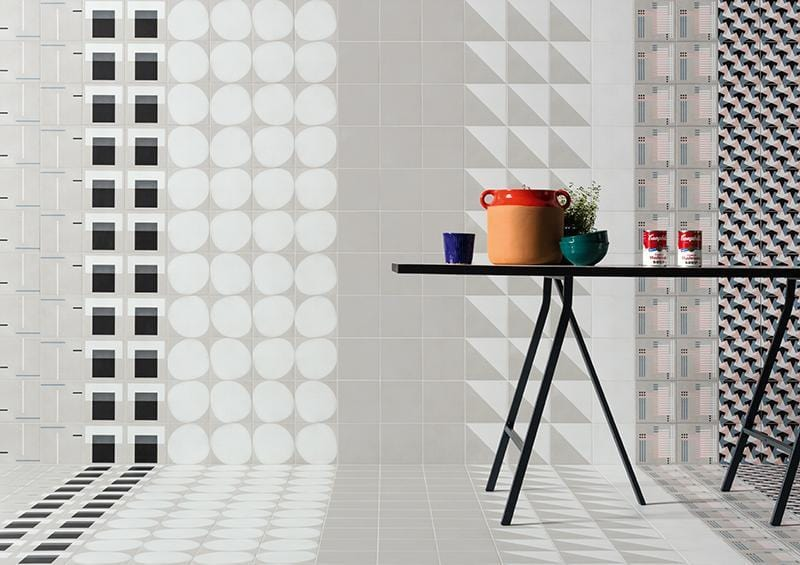 Futura Geometric Porcelain Tile for Walls and Floors / T / White