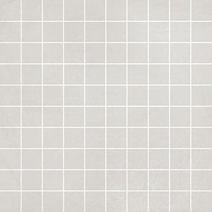 Futura Geometric Porcelain Tile for Walls and Floors / Grid / White
