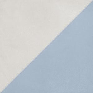Futura Geometric Porcelain Tile for Walls and Floors / Half / Blue