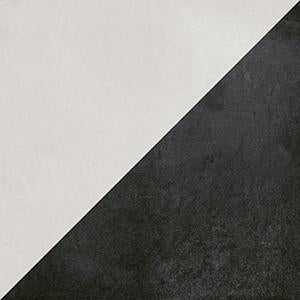 Futura Geometric Porcelain Tile for Walls and Floors / Half / Black