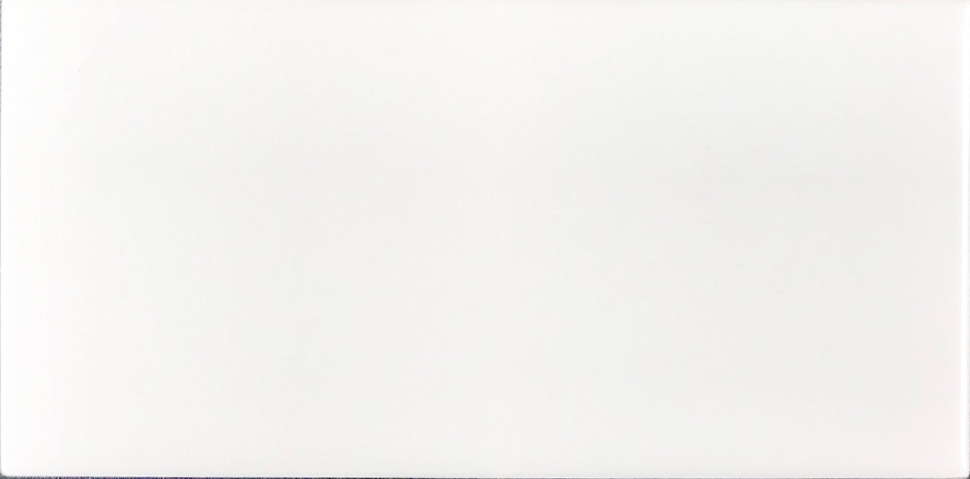 3x6 Wall Tile Ice White Glossy Bright Finish Mission