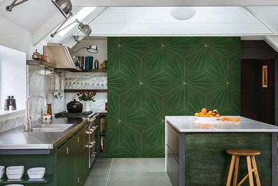 Electra Grande Green Hexagon Floor and Wall Tile
