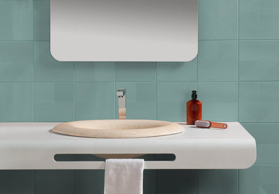 Luce di Ceramica | Mint | Ceramic Wall Tile | 8 x 8 - Mission Stone & Tile