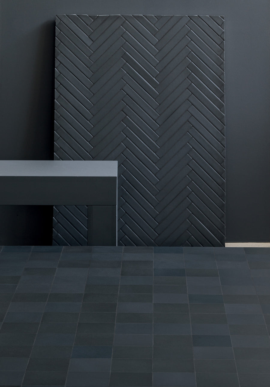 "Mutina | Mews Ink Chevron 2""x16"""