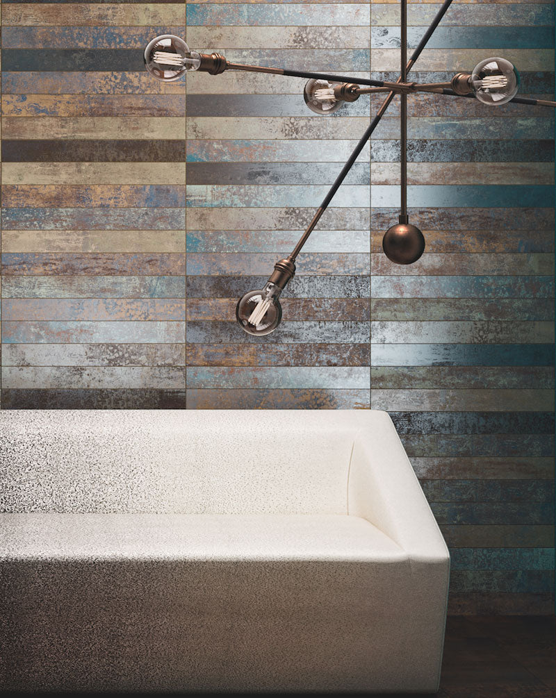 "Ruggine | Nichel | Porcelain Tile | 3""x24"""