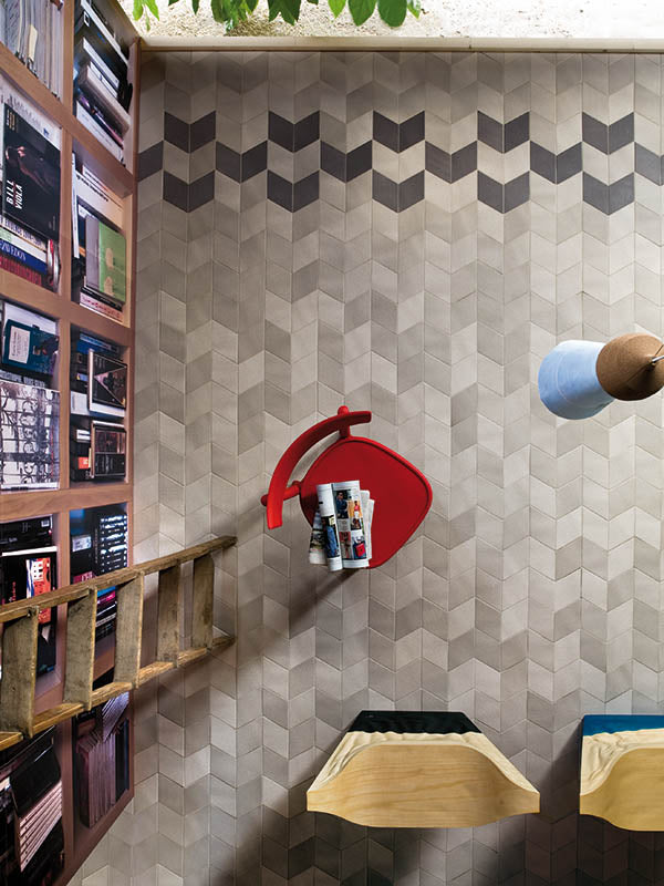 Mutina | Tex Black | Triangle Textured Tile |  Contemporary Tile