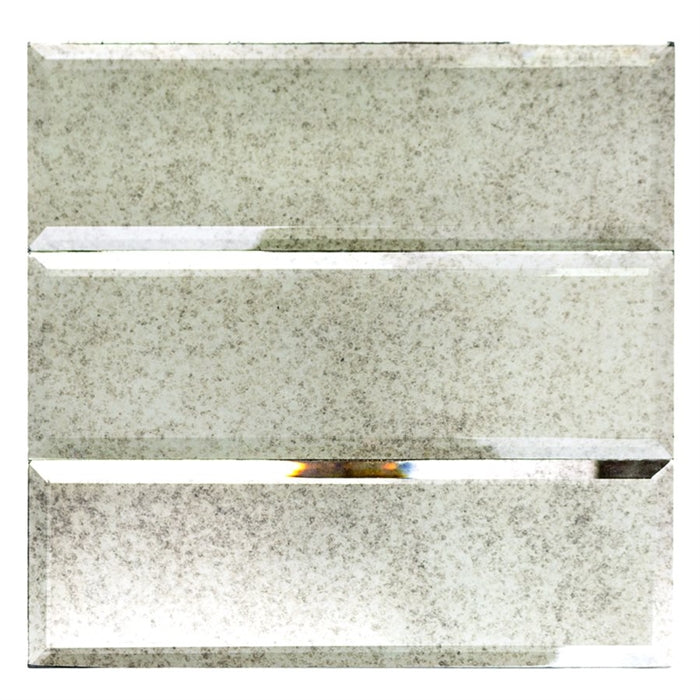 Antiqued Mirror Glass Tile | Beveled 4x12 - Mission Stone & Tile