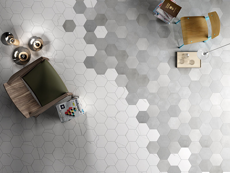 "Mate Porcelain 8"" Hexagon 