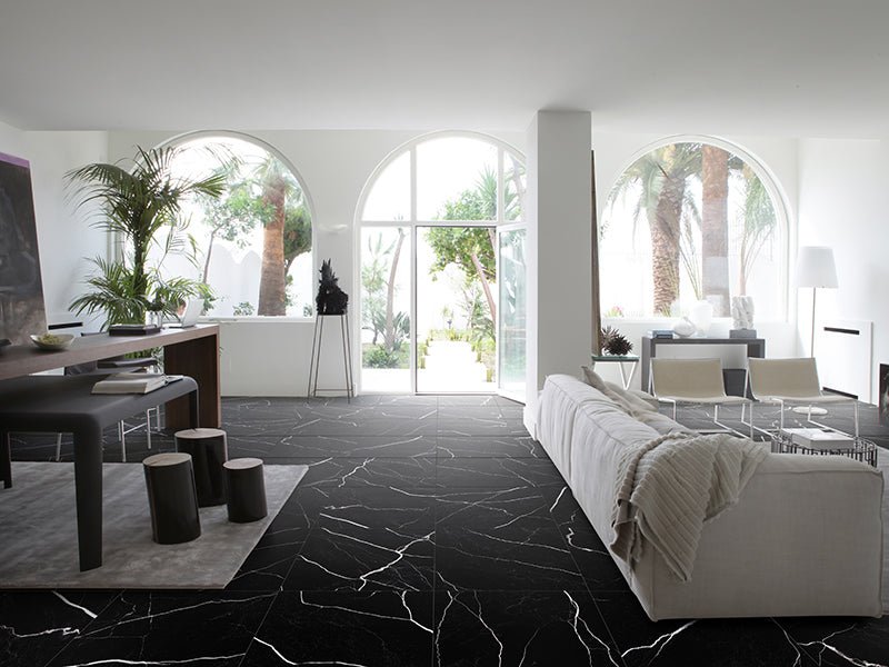 Mate | Nero Black | 12x24 Porcelain Field Tile - Mission Stone & Tile
