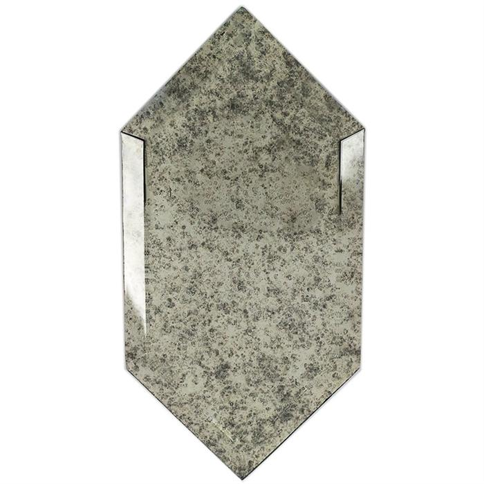 Antiqued Mirror Glass Tile | Elongate Beveled Hex
