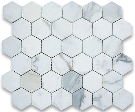 "Hexagon | Calacatta | Polished 3"" - Mission Stone & Tile"