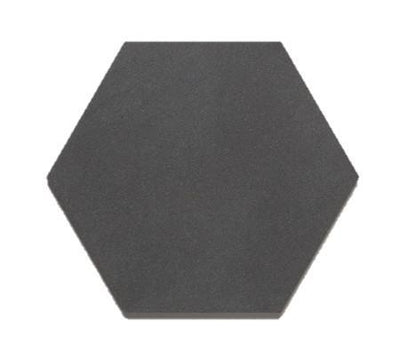 Hexagon |  Basalt | Honed 8""