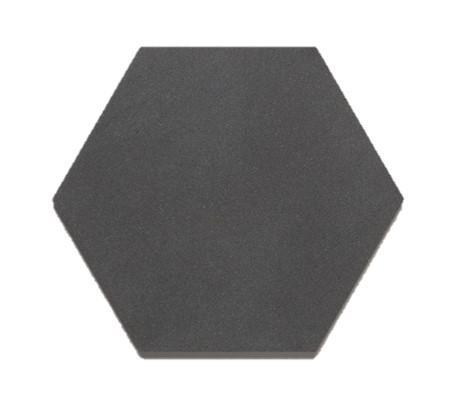 "Hexagon |  Basalt | Honed 8"" - Mission Stone & Tile"