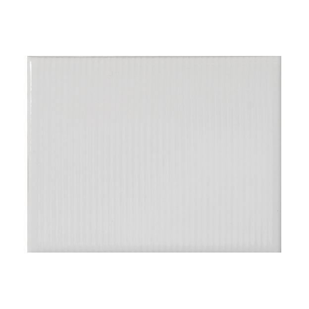 "Whisper White | PinStripe | The Essentials | Textured Subway Tile 4""x5"""