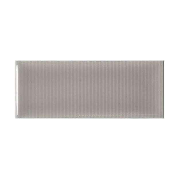 "Vento Gray | Pinstripe | The Essentials | Textured Subway Tile 2""x5"""