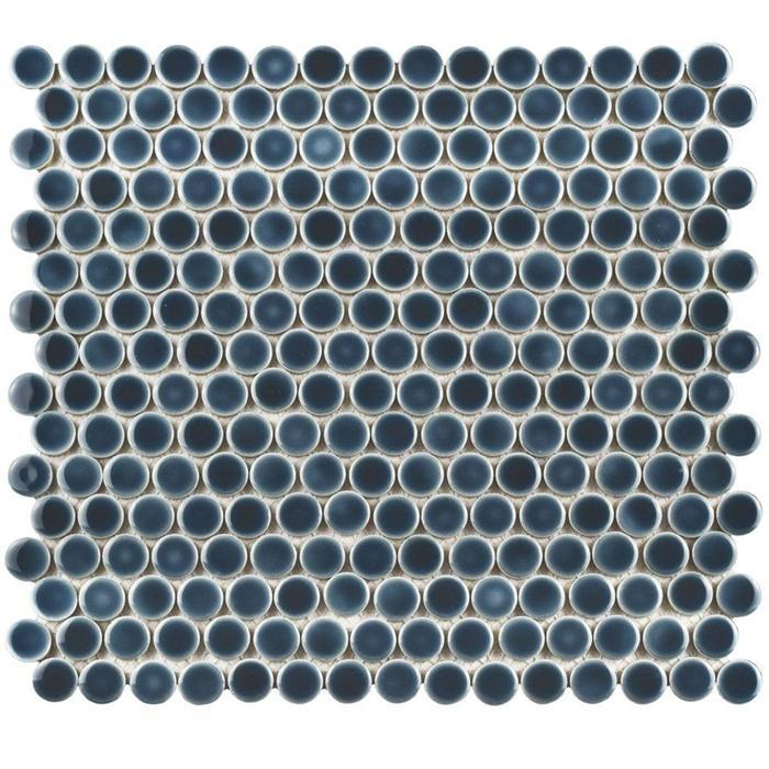 GetAround | Storm Blue/Grey Penny Round Tile | 3/4 12x12 Sheet - Mission Stone & Tile