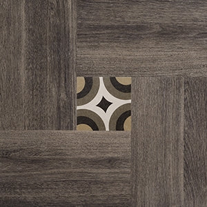 Inside 50 Porcelain Tile | Brown Deco | 20x20