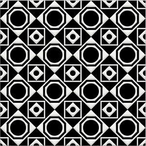 "Bonne Magie | Decorative Tile | White on Black 8""x 8"""