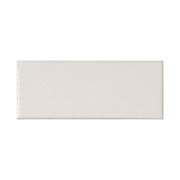 "Ivory Coast | Honeycomb | The Essentials | Textured Subway Tile 2""x5"""