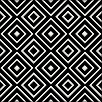 Bonne Magie | Decorative Tile | White on Black 8x 8