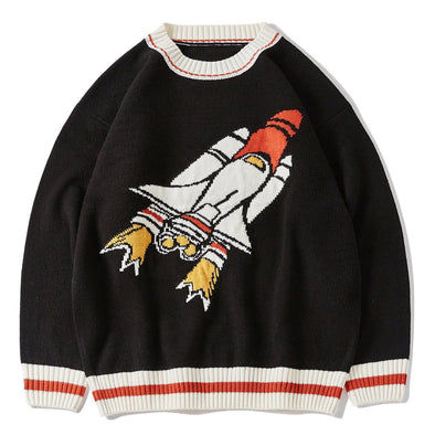 Rocket Print Knitted Sweater