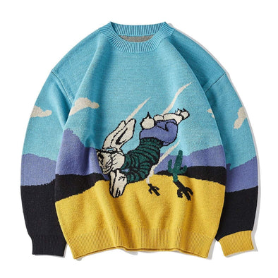 Rabbit Rocket Print Sweater