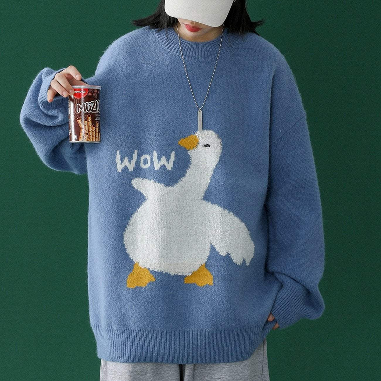Cartoon Goose Sweater