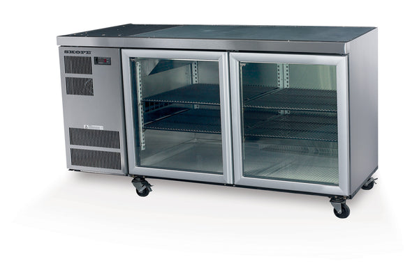 SKOPE CL400 2 Glass or Solid Swing Door Fridge CL400-2SW