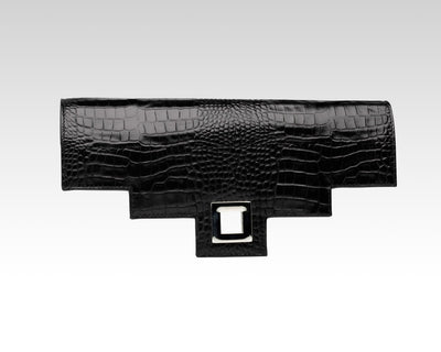 Quoin Medium Handbag Flap - Black