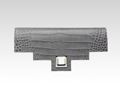 Quoin Medium Handbag Flap - Grey