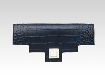 Quoin Medium Handbag Flap - Navy