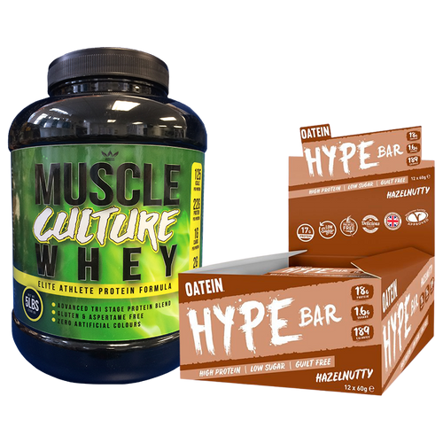 Bundle: Muscle Culture Whey Protein + Hype Bars