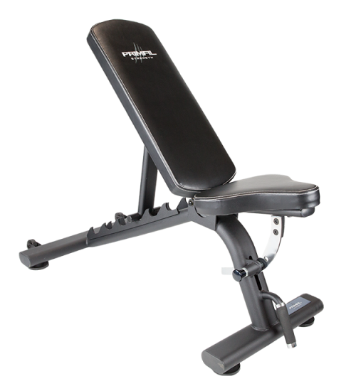 Primal Strength Stealth Commercial FID Bench. Adjustable Flat/Incline/Decline