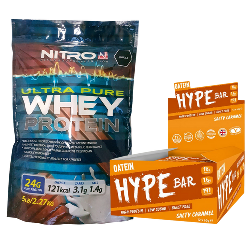 Bundle: Ultra Pure Whey Protein + Hype Bars