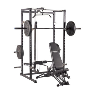Primal Strength Home Power Rack with Lat Pulldown/Low Row