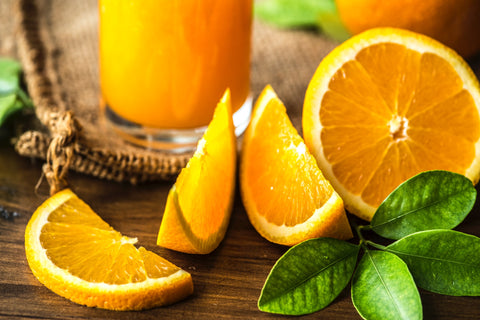 What ingredients complement orange perfume?