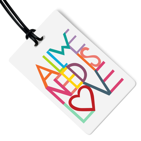 All We Need Is Love Luggage Tag