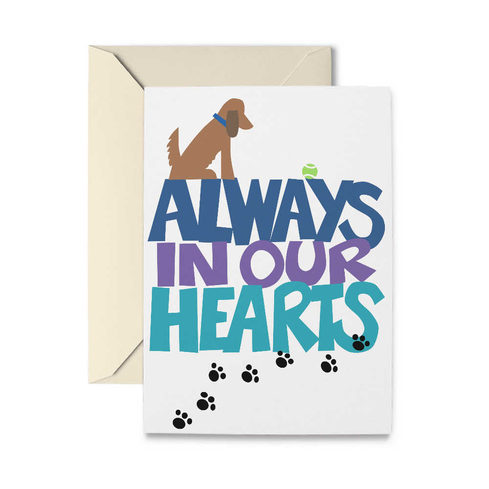 Always In Our Heart Greeting Card