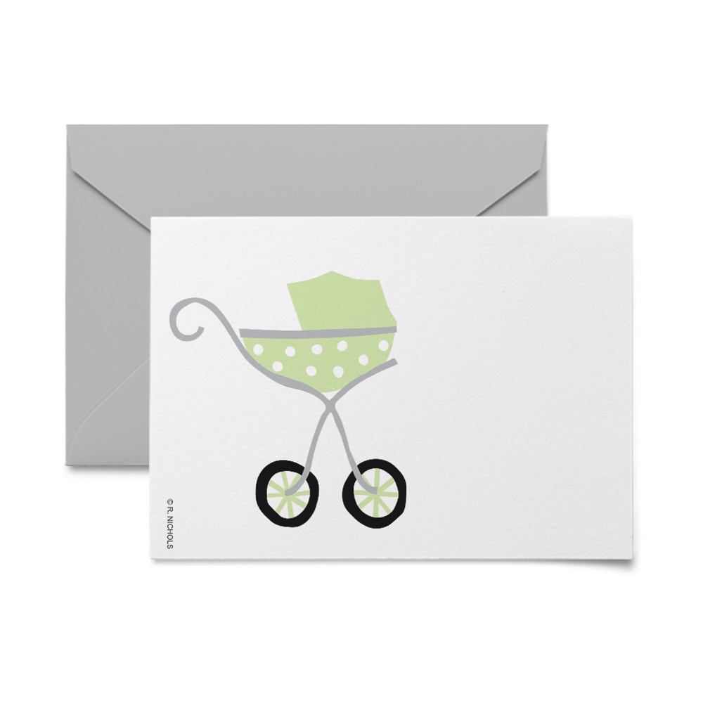 Baby Carriage Sage Gift Tags