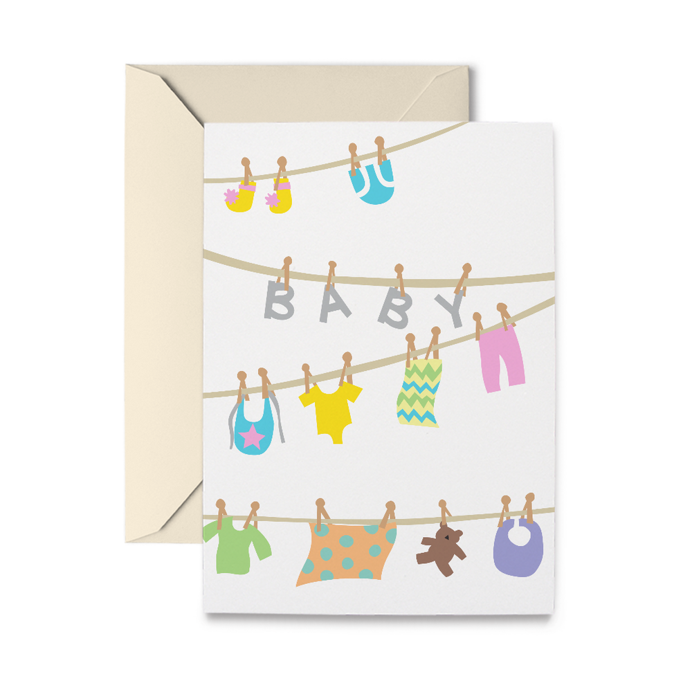 Baby Clothesline Greeting Card